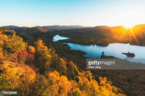 sunset in autumn - new jersey stock pictures, royalty-free photos & images