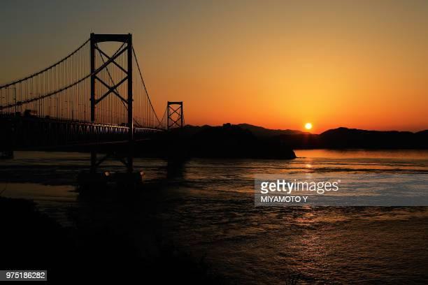 sunset in awaji is. - miyamoto y ストックフォトと画像
