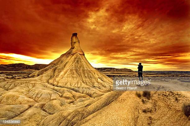 Sunset in Bardenas Reales, Spain