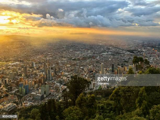 sunset in bogota, colombia - colombia stock pictures, royalty-free photos & images