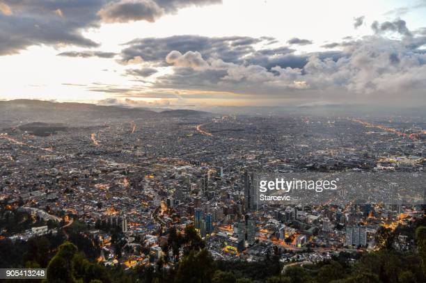 Sunset in Bogota, Colombia