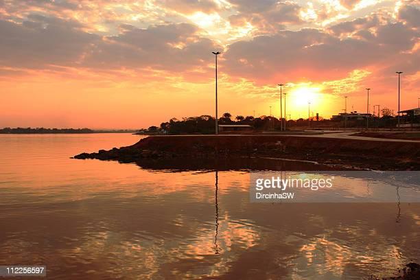 sunset in brasilia - ブラジリア連邦直轄区 ストックフォトと画像