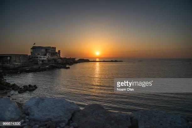 Sunset in Caesarea port