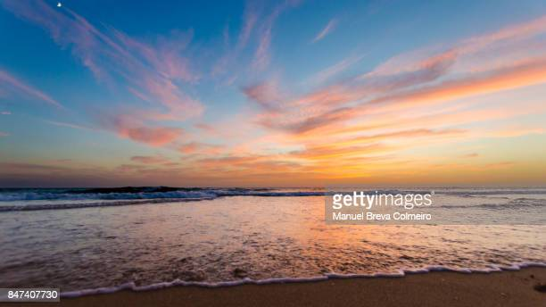sunset in cádiz - dusk stock pictures, royalty-free photos & images