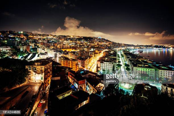 """sunset in city - naples, italy - """"peeter viisimaa"""" or peeterv stock pictures, royalty-free photos & images"""