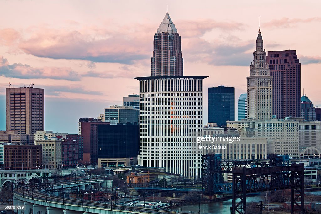 Sunset in Cleveland : Foto stock