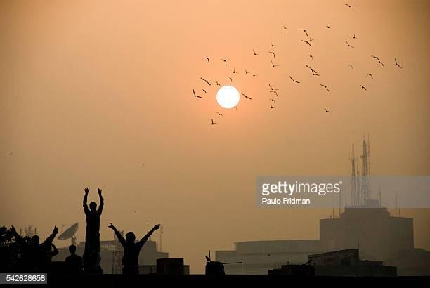 Sunset in Delhi India