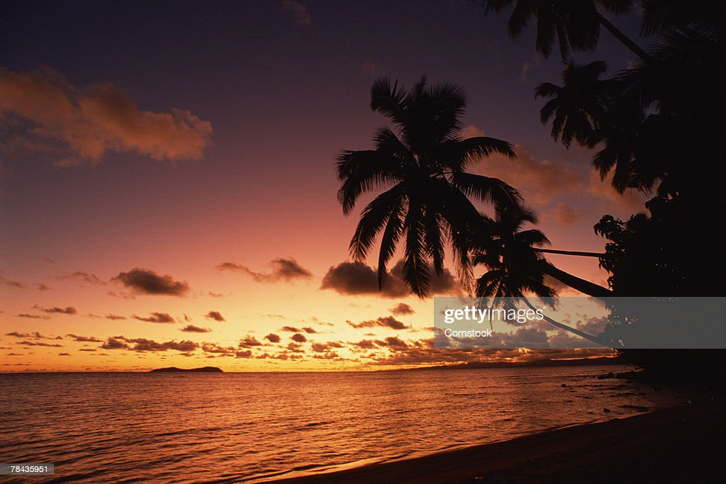 Sunset in Fiji : Stockfoto