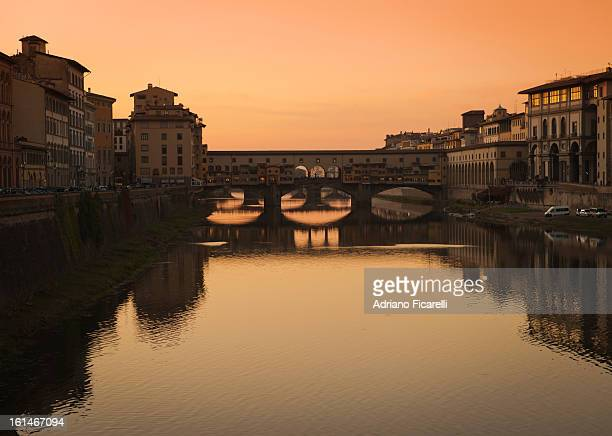 sunset in florence - adriano ficarelli stock-fotos und bilder