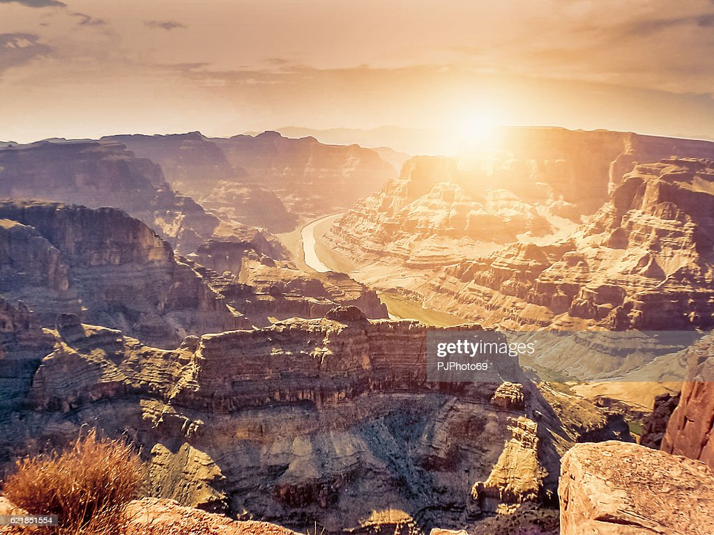 Sunset in Grand Canyon : Stock Photo
