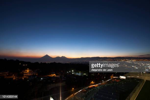 sunset in guatemala - guatemala city stock pictures, royalty-free photos & images