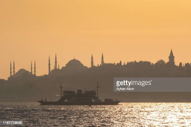 sunset in historical peninsula of istanbul,turkey - ottoman empire stock pictures, royalty-free photos & images