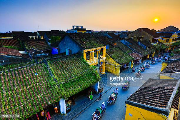sunset in hoian ancient town, vietnam - vietnam stock pictures, royalty-free photos & images
