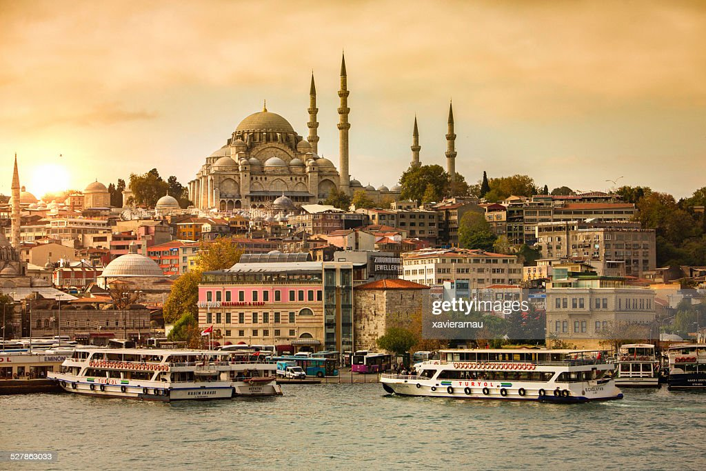Sunset in Istanbul : Stock Photo