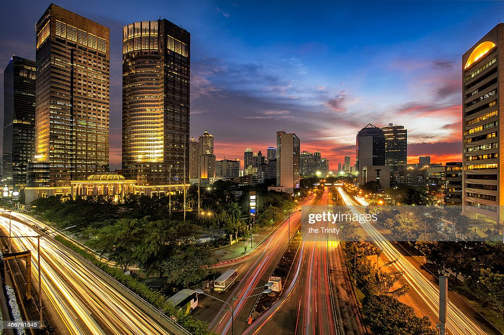 Sunset in Jakarta : Stock Photo