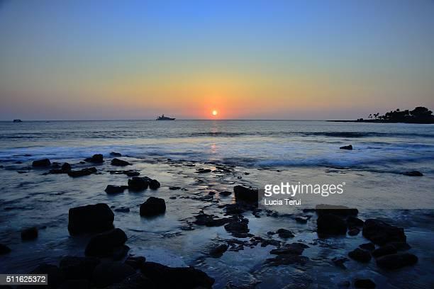 Sunset in Kailua Beach, Maui, Hawaii