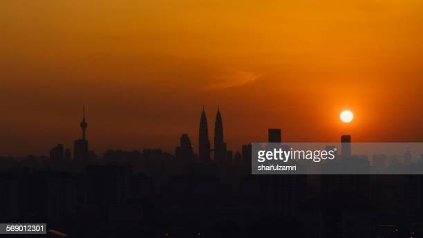 sunset in kl - shaifulzamri stockfoto's en -beelden
