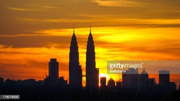 sunset in Kuala Lumpur, Malaysia
