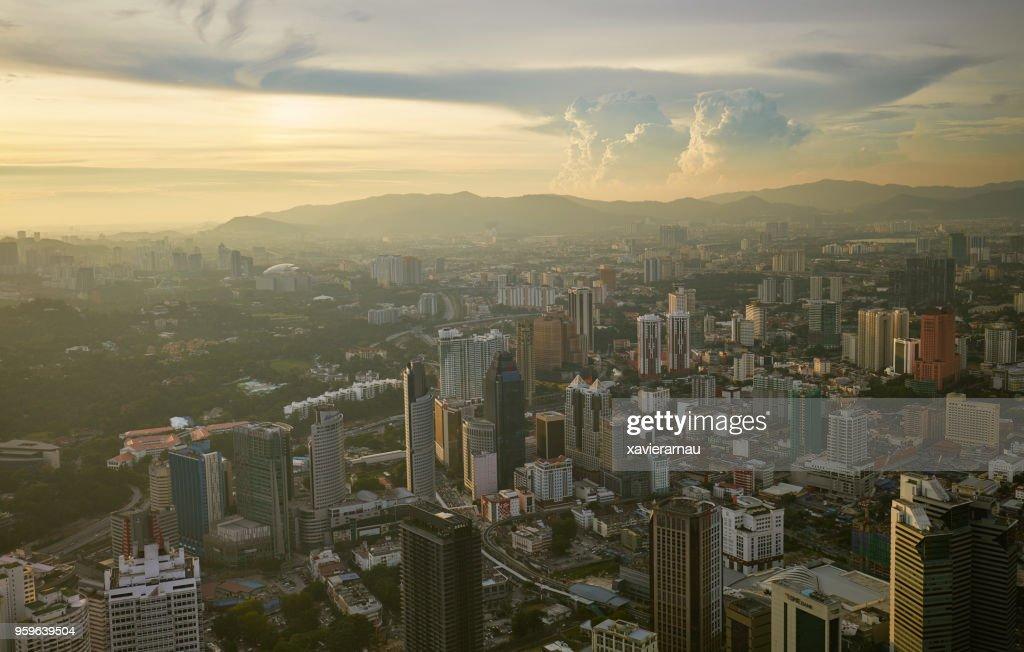 Sonnenuntergang in Kuala Lumpur, Malaysia : Stock-Foto
