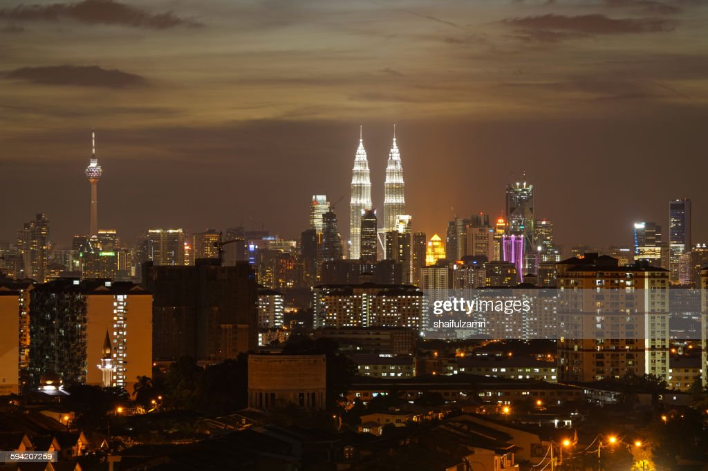 Sunset in Kuala Lumpur : Stock Photo