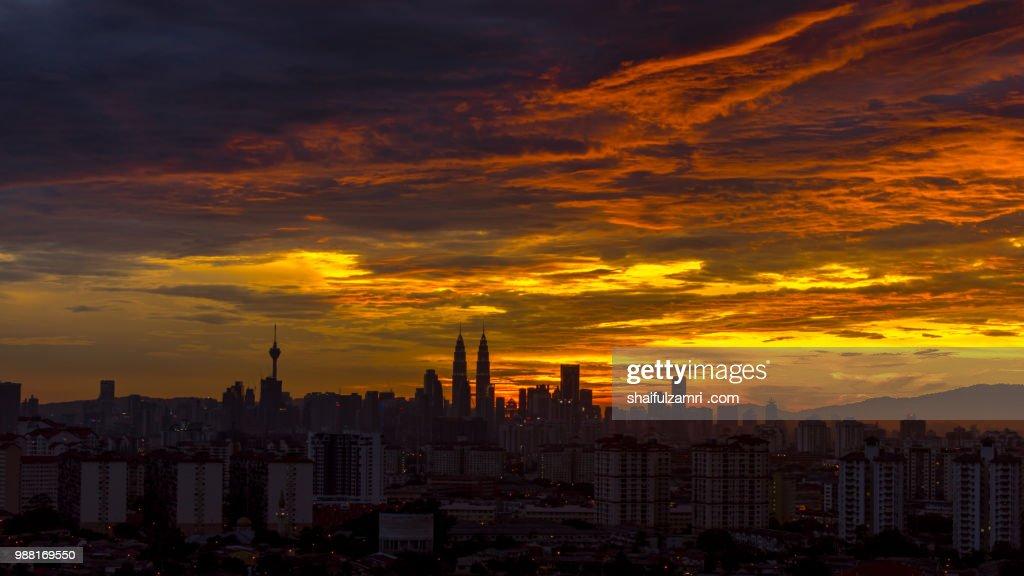 Sunset in Kuala Lumpur : Stock-Foto