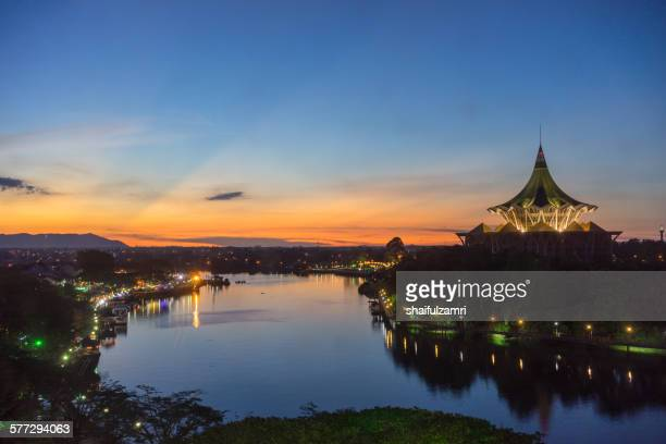 sunset in kuching - sarawak state stock pictures, royalty-free photos & images