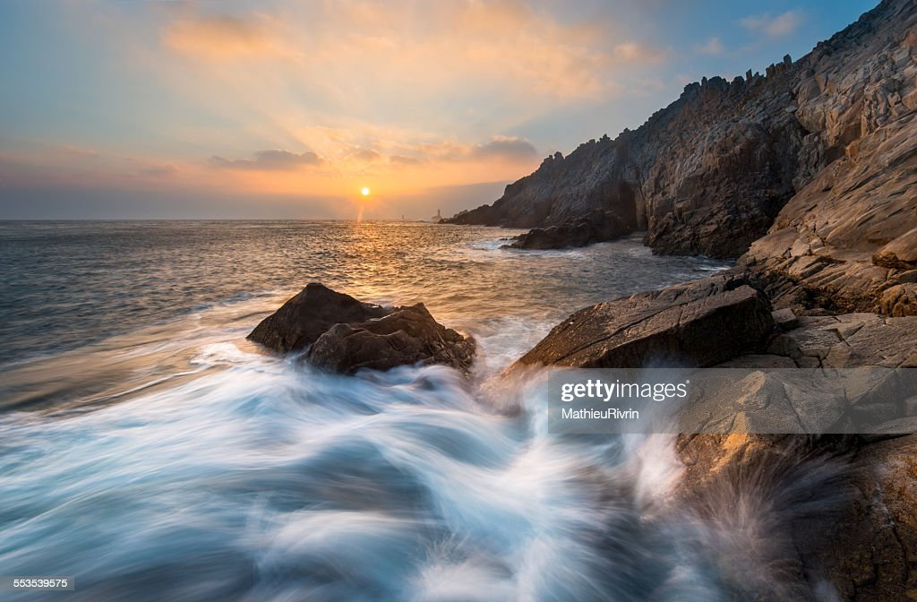 Sunset in La Pointe du Raz : Stock Photo