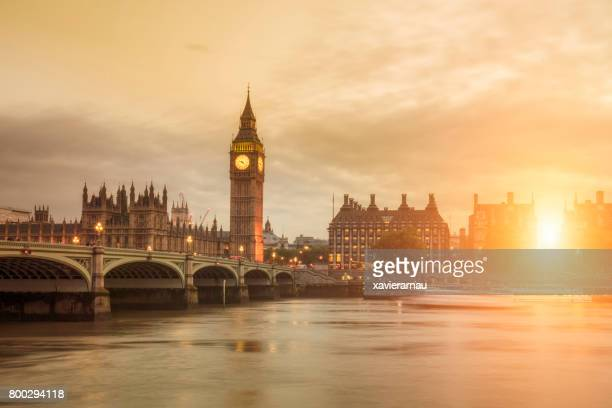 sunset in london - greater london stock pictures, royalty-free photos & images