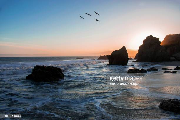 sunset in malibu - malibu beach stock pictures, royalty-free photos & images