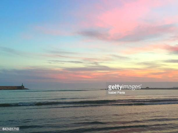 sunset in mediterranean sea - sunset beach stock photos and pictures