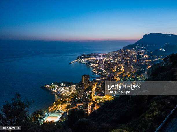 sunset in monte carlo ... - monte carlo stock pictures, royalty-free photos & images