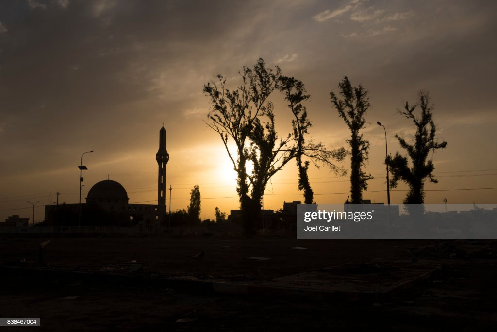 Sunset in Mosul, Iraq : Stock Photo