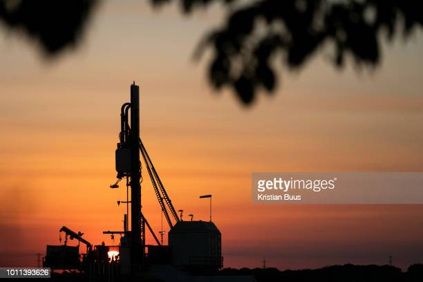 Sunset in New Preston Road Cuadrilla's highly contested fracking site in Lancashire The drilling is almost done and Cuadrilla is almost ready to...