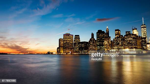 Sunset in New York City as Seen from Brooklyn