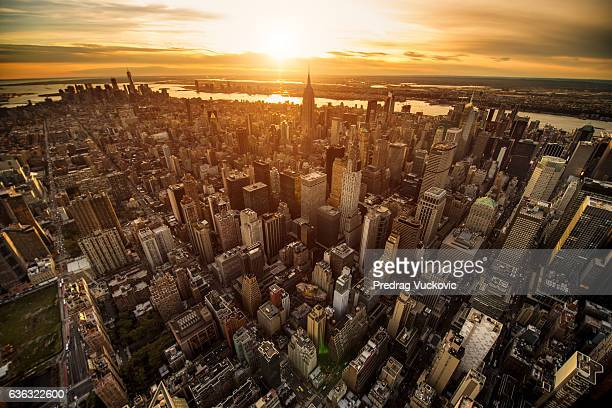 Coucher de soleil de New York