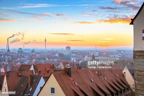 Sunset in Nuremberg, Garmany