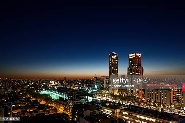 sunset in palermo hollywood, buenos aires - palermo buenos aires stock photos and pictures