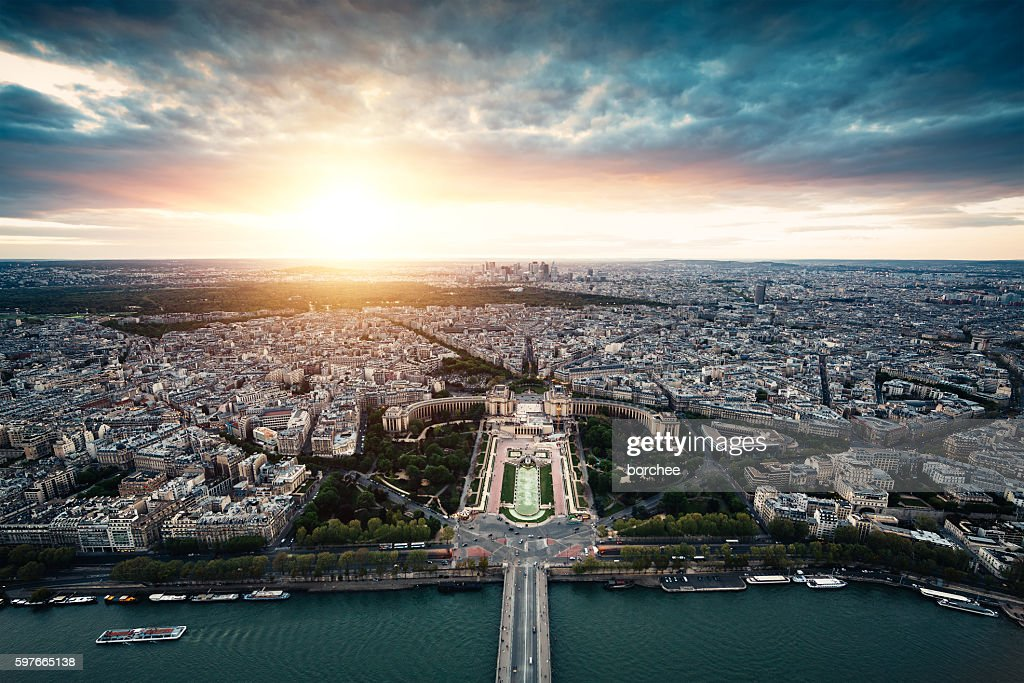 Sunset In Paris : Stock Photo