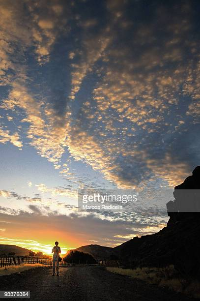 sunset in patagonia - radicella stock pictures, royalty-free photos & images
