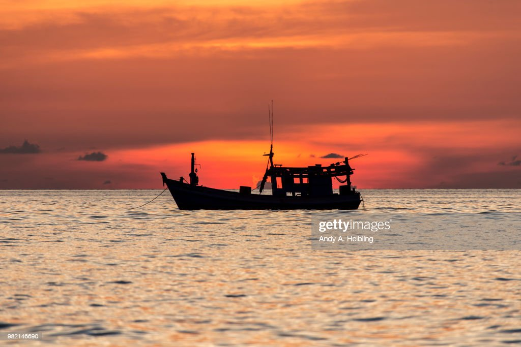 Sunset in Patong Beach : Stock Photo
