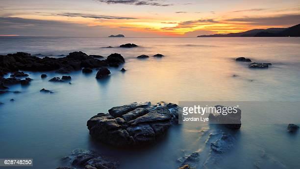 Sunset in Penang beach