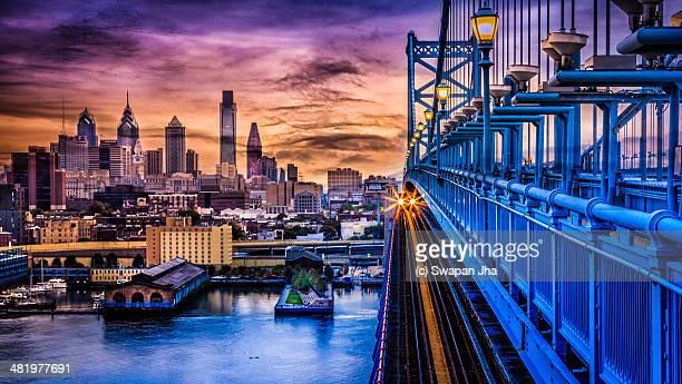 Sunset in  Philadelphia