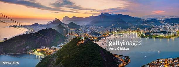 sunset in rio de janeiro - south america stock pictures, royalty-free photos & images