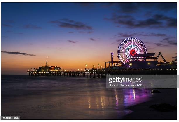 Sunset in Santa Monica Pier.