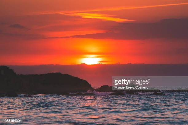 sunset in sardinia - calm before the storm stock pictures, royalty-free photos & images