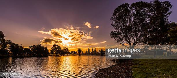 Sunset in South Perth, Western Australia, Australia
