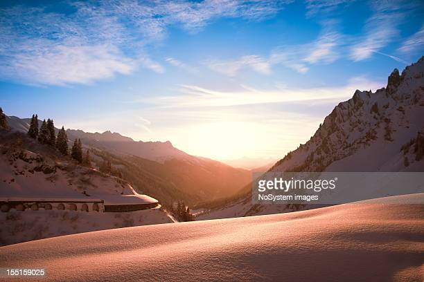 Sunset in St. Anton am Arlberg, Austria