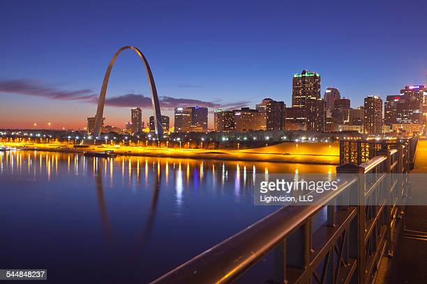 Sunset in St. Louis, Missouri