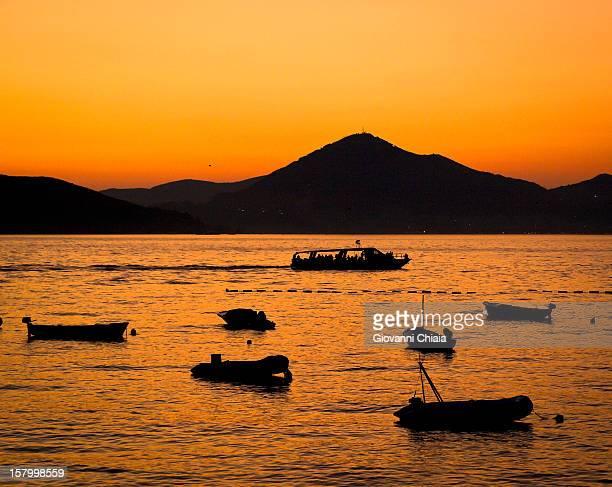 Sunset in Sveti Stefan