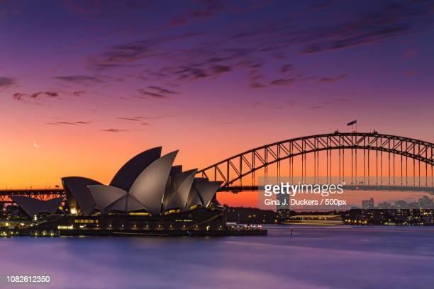 Sunset in Sydney Harbour